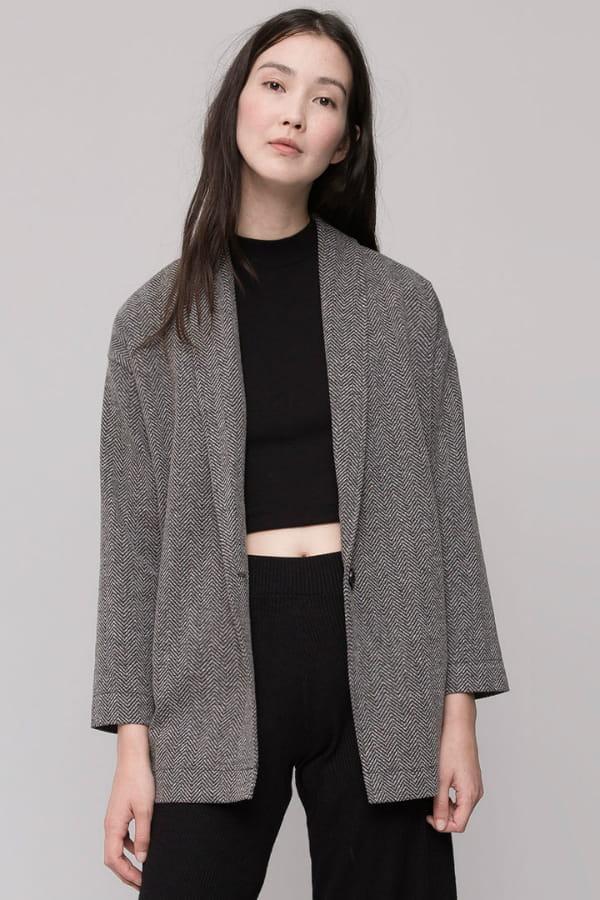 mode attrayante capture fournisseur officiel Veste gris anthracite de Pull & Bear