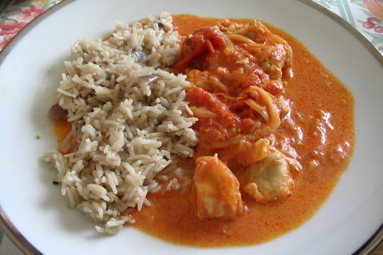 Poulet au curry et gingembre