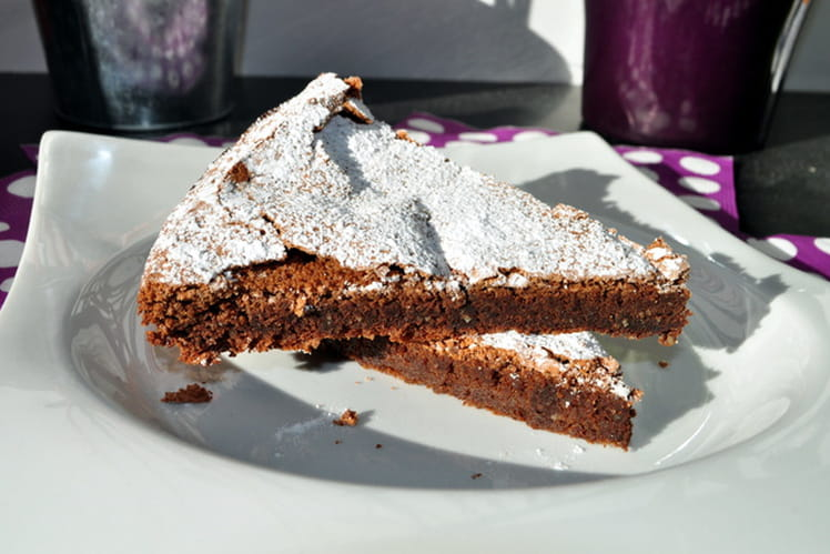 Gâteau fondant chocolat muscade sans beurre