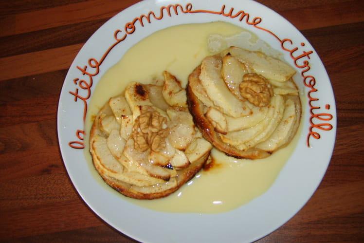 Tartelettes aux pommes, miel et noix