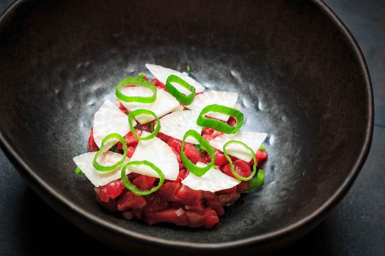 Tartare de bœuf irlandais et radis noir