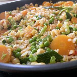 riz complet aux petits légumes