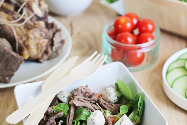 Côte et jarret de boeuf fermier Aubrac en salad'party !