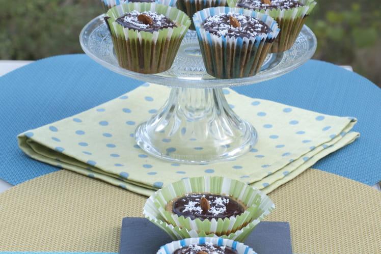Muffins banane avoine et topping chocolat