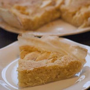 tarte cristallisée aux pommes et au disaronno