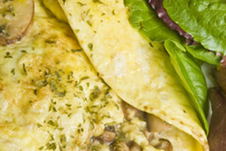 Omelette aux champignons, simple et rapide