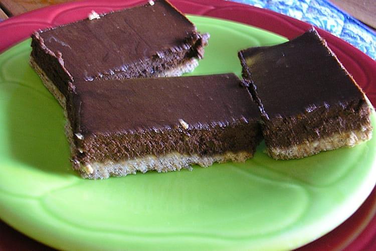 Fondant-croquant aux deux chocolats