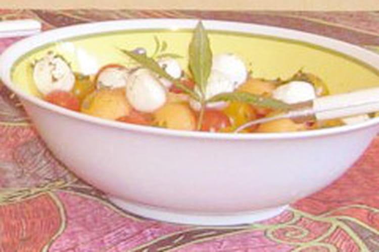 Salade tomate cerise - melon