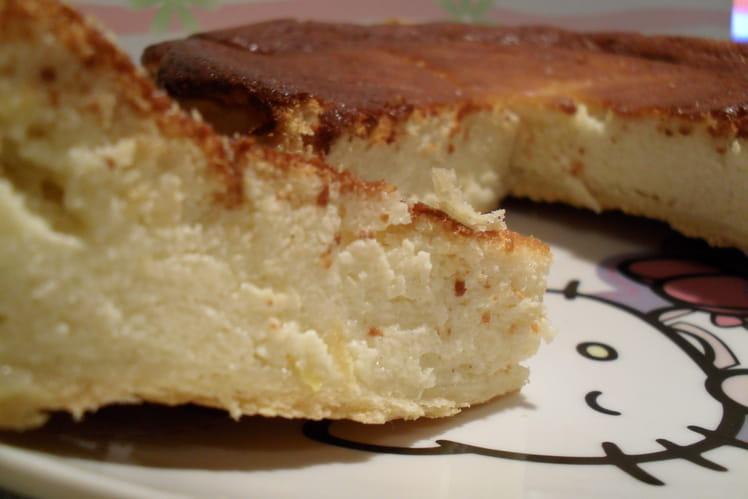 Gâteau au fromage blanc au citron et semoule
