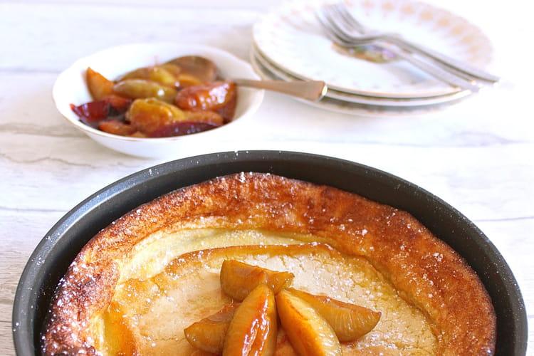 Dutch baby pancake aux prunes reine-claudes