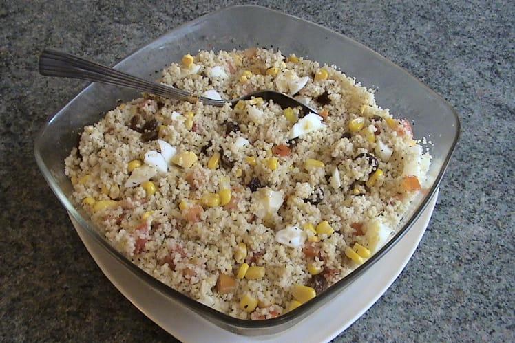 Salade de couscous au yaourt et aux épices