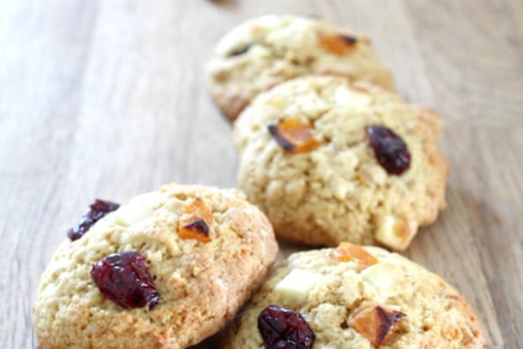 Cookies abricots, cranberries et chocolat blanc