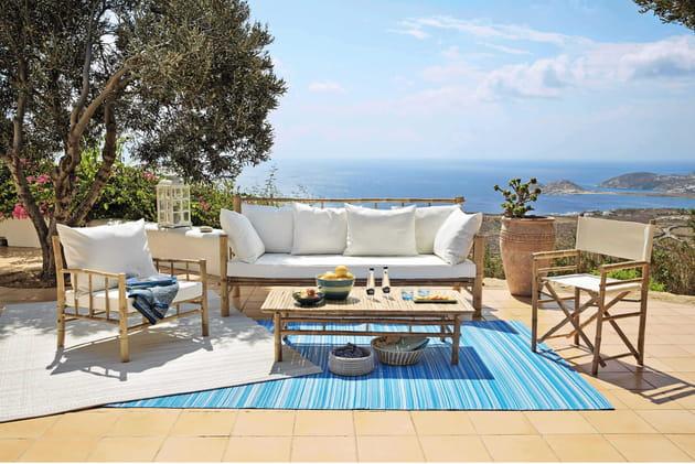 Stunning Salon De Jardin En Bambou Couvert Images - Amazing House ...