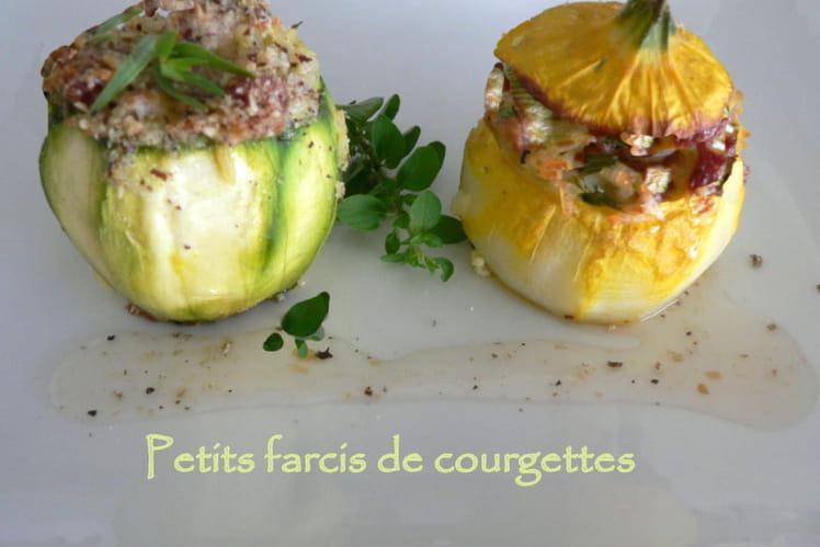 Recette de petits farcis de courgettes la recette facile - Cuisiner courgettes rondes ...