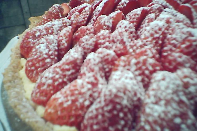 Tarte aux fraises et sucre glace