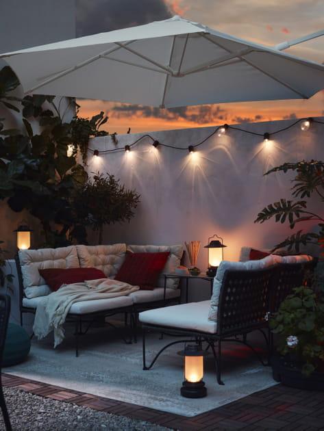 Parasol déporté HÖGÖN IKEA