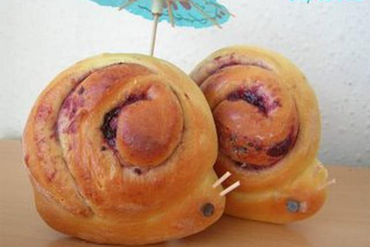 Escargots briochés fourrés à la confiture