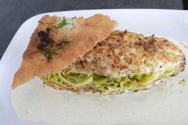 Filets de maquereaux et spaghetti de courgettes