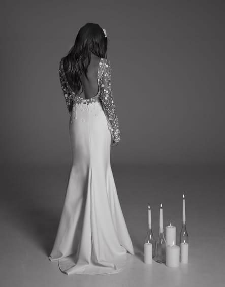 Robe de mariée Blair, de dos
