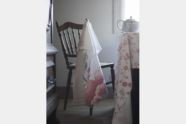 Torchon à fleurs et carreaux IKEA