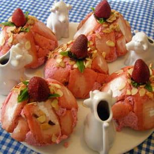 petites charlottes légères aux fraises