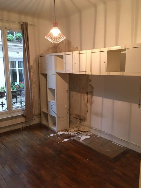 Avant: un salon à rénover
