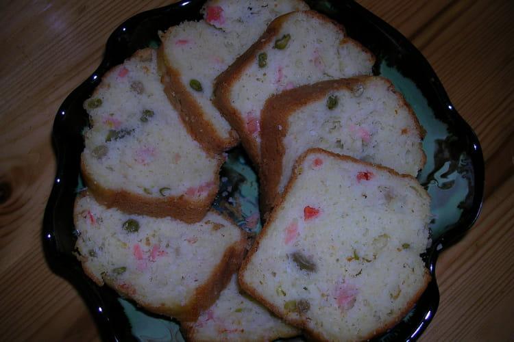 Cake au saumon et à la macédoine de légumes