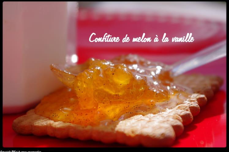Confiture légère de melon, vanille et citron vert
