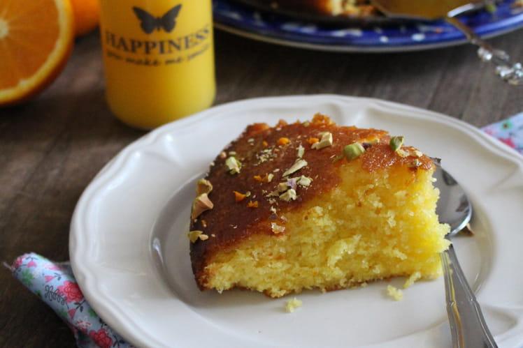 Gâteau moelleux aux oranges du verger