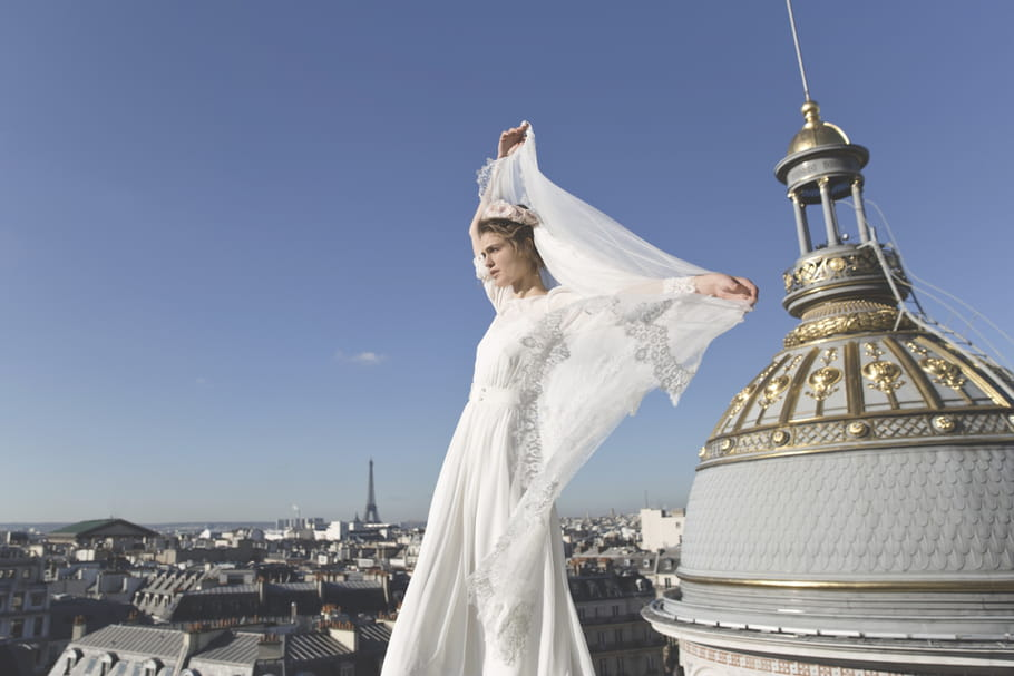 Elise Hameau crée une robe exclusive pour Maria Luisa Mariage au Printemps