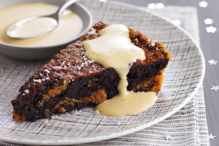 Moelleux au Chocolat et Caramel à la Fleur de Sel de Guérande sans gluten