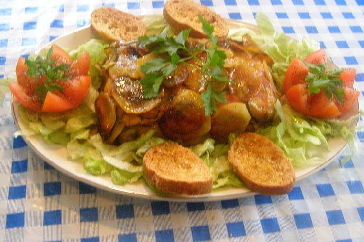 Terrine de pommes de terre et confit d'Aubergine