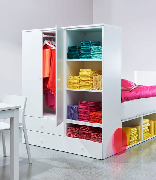 Cadre de lit avec rangement armoire IKEA