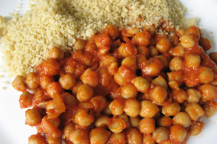 Pois chiches en sauce tomate