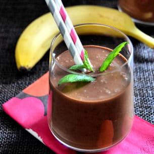 smoothie au chocolat cru et amande