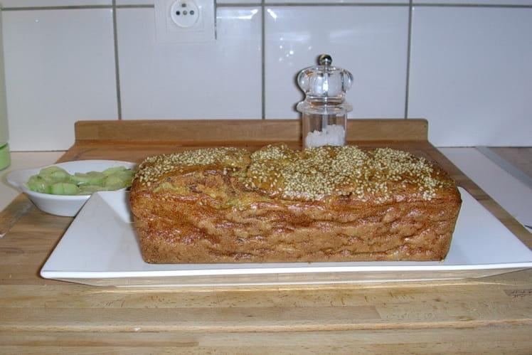 Cake poireaux/lardons et graines