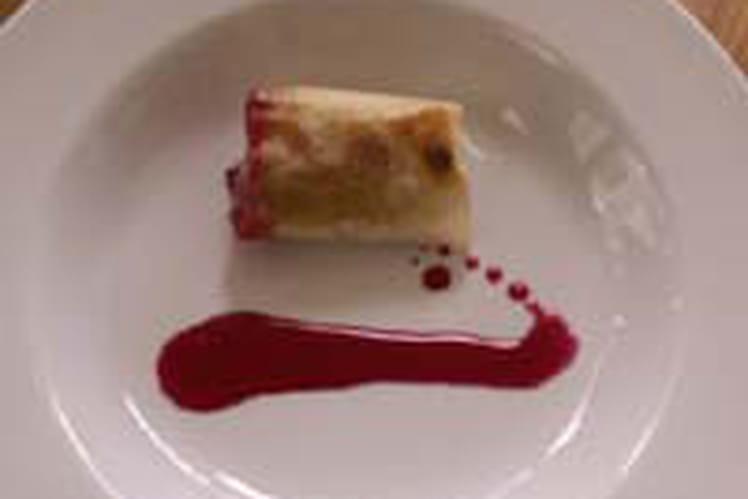 Nems de foie gras et leur caramel de betterave