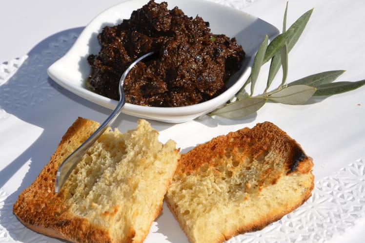 Tapenade d'olives noires express