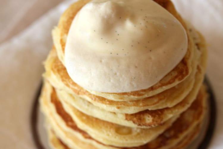 Pancakes et mousseline à la vanille de Madagascar