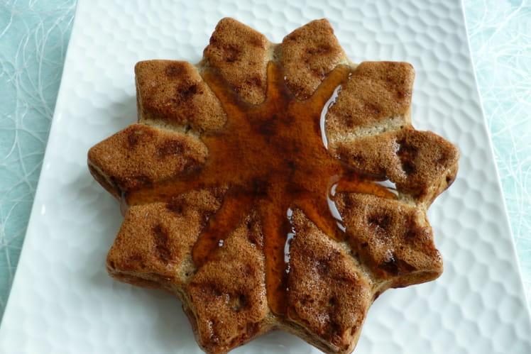 Pancake protéiné aux pommes séchées et sirop d'érable