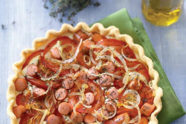 Tarte à la tomate et Knacki®