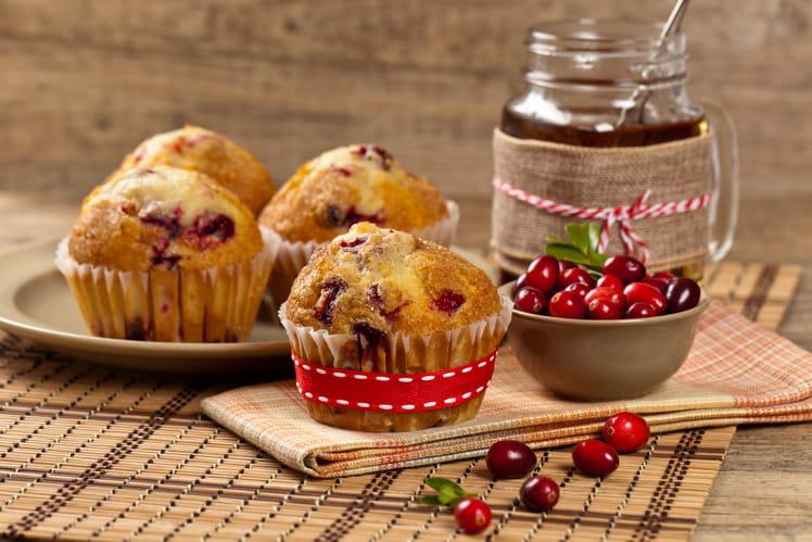 Muffins aux cranberrys