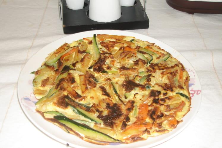 Omelette aux 3 légumes