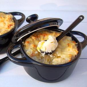 parmentier de poireaux au fromage