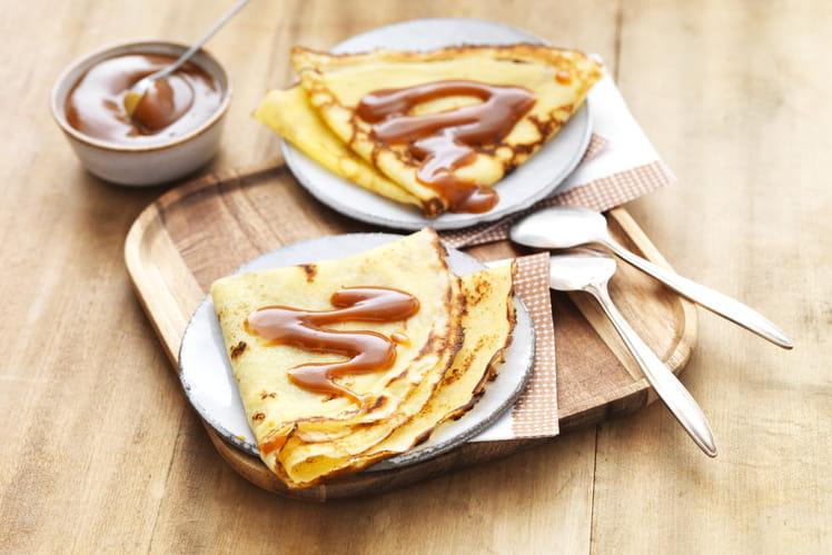 Crêpes sans gluten au caramel au beurre salé