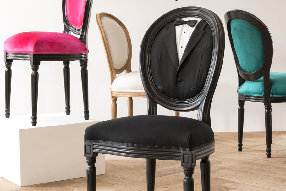 maisons du monde la chaise m daillon se met sur son 31. Black Bedroom Furniture Sets. Home Design Ideas