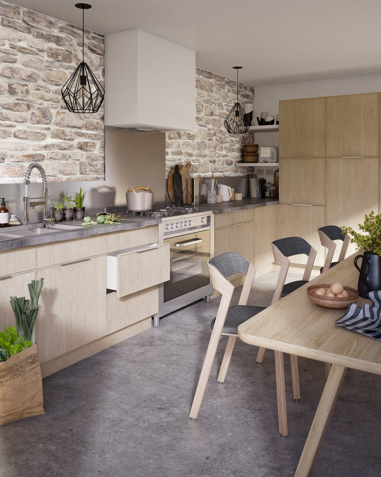 cuisine cooke lewis kontour de castorama. Black Bedroom Furniture Sets. Home Design Ideas