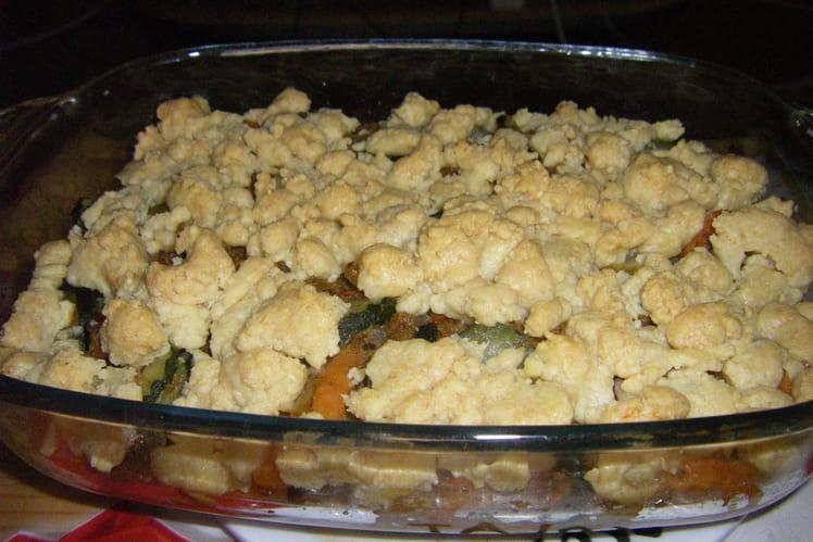 Crumble viande-légumes