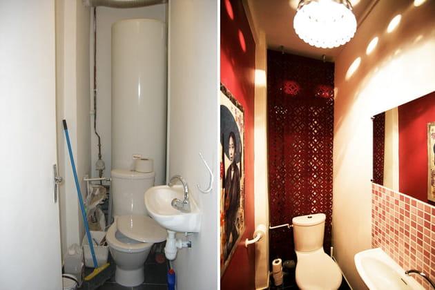 Espace WC : avant/après