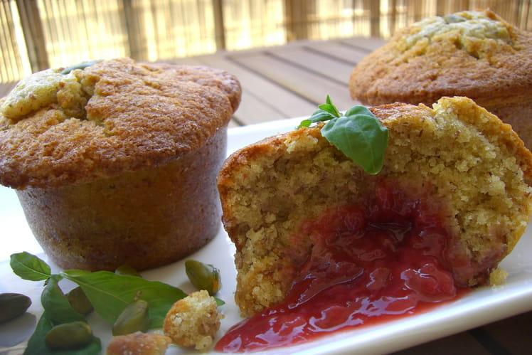Muffins fraise et pistache